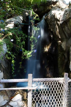 Waterfall on Tom Sawyer's Island, near the loading dock