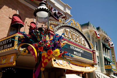 Celebrate Flowers in Front of Main Street Cinema