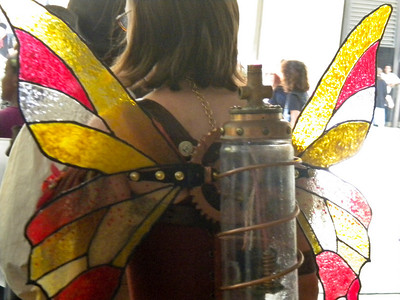 Clockwork stained glass wings