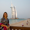Emily with the Burj Al Arab in the background. Actually getting quite dark at this point (ISO 8000 for this shot!).