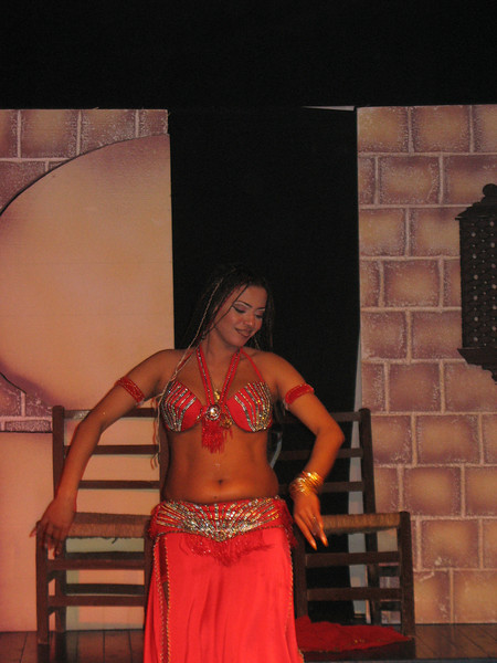 Guess it wouldn't be Egypt without belly dancing and you really do need a belly!