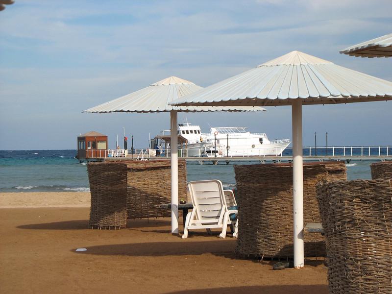 Hotel beach.