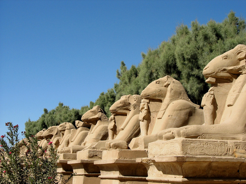 The Avenue of the Sphinxes, Karnak Temple, Luxor