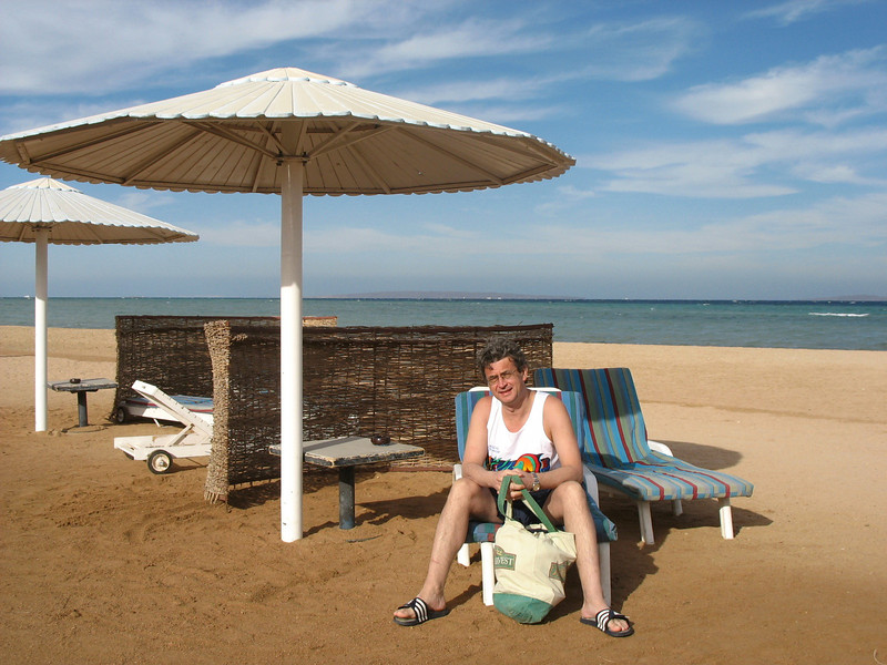 Hurghada is incredibly windy. These curved rattan-type barriers protect you from the wind.