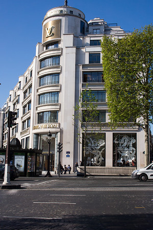 The Louis Vuitton store in Paris