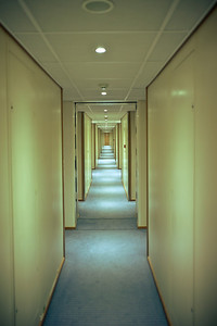 long hallway on the ship