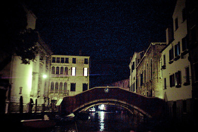 Venice canals at night