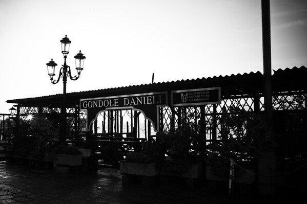 Gondole Danieli station, outside of our hotel