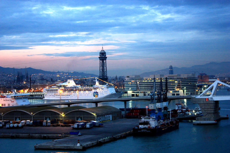 Port in Barcelona, Spain