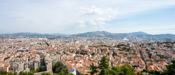 View from Notre Dame in Marseilles