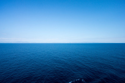 The Mediterranean Sea, view from the Costa Luminosa
