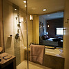 Master bath, there's a window between the shower and the bedroom.
