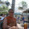 Lunch in Key West. They spray you to keep you cool.