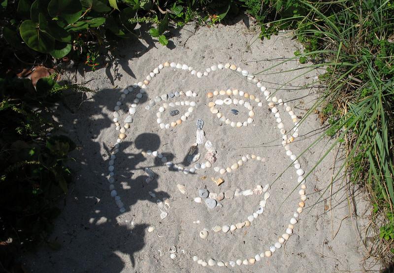 Juno Beach happy face.