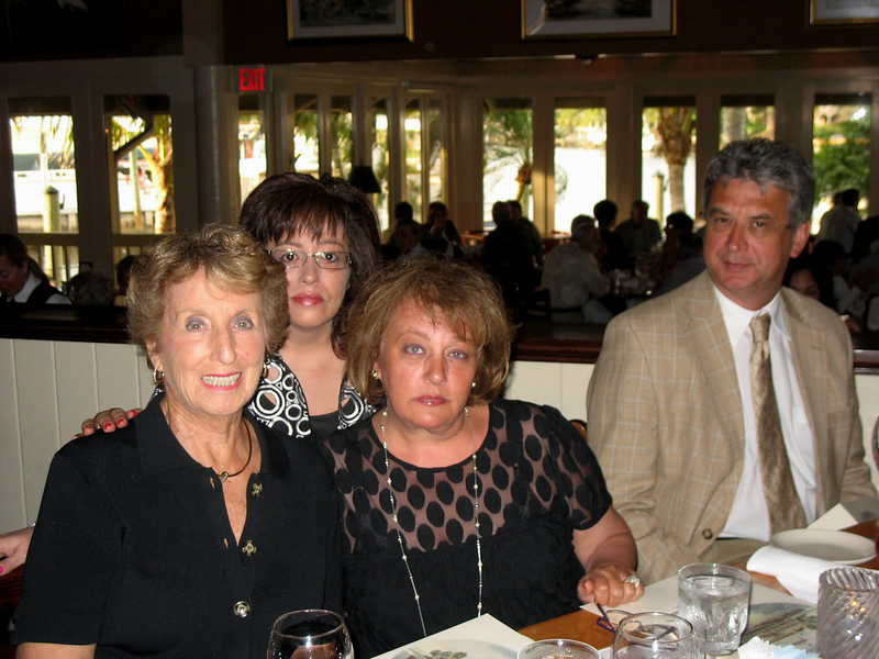 Family friend Myra, Julie, Susan & Rustem at The River House.