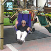 Dad checking out a hammock-chair.