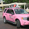 Only in Key West - a pink taxi.