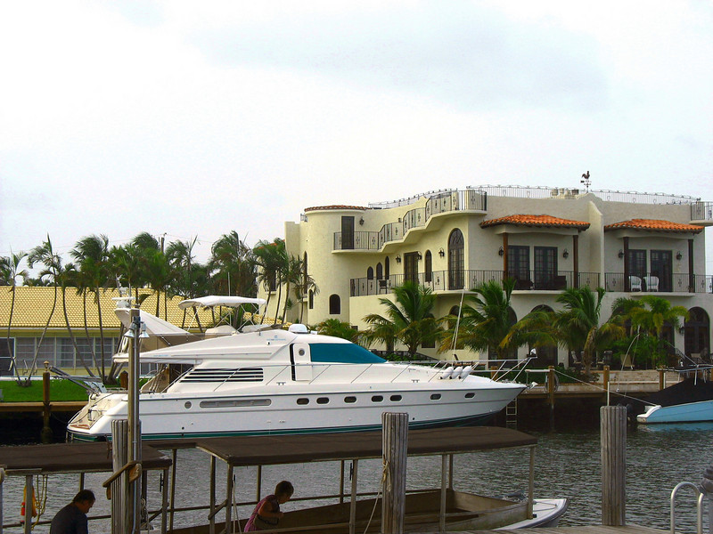 Florida home with yacht.