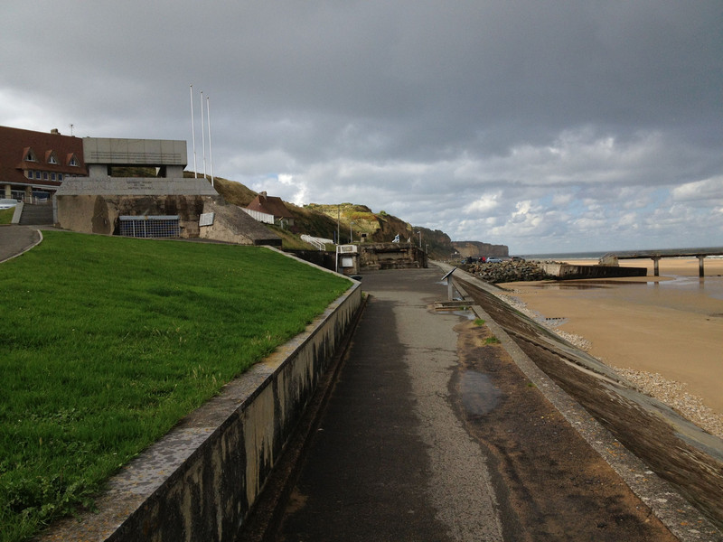 Looking down the beach from the opposite direction. The concrete structure on the top left with the grate over it is the gun emplacement from the previous picture.