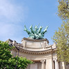 This was a very cool statue on top of the left corner of the Grant Palais.