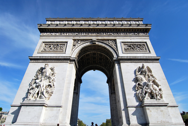 Originally commissioned in 1806, the Arc wasn't completed until 1836.