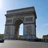 the Arc de Triomphe; a monument to honor those who fought and died for France in the French Revolutionary and Napoleonic Wars.