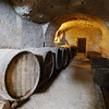 Inside the wine caves on the Chateau grounds.