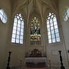 Inside the church on the Chateau grounds.