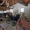 The stable had a litany of old wagons used on the grounds over the years.