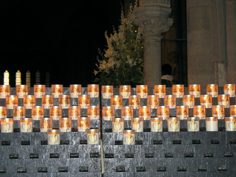 Notre Dame candles.