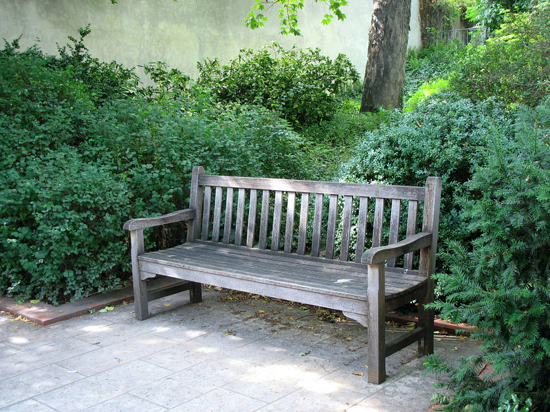 Bench at Rodin Museum.