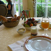 Breakfast at Chateau de Sully.