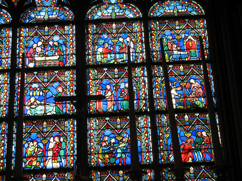 Notre Dame stained glass.