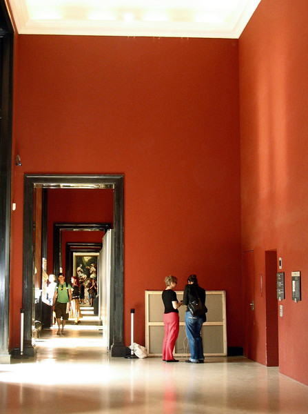 Entrance to Louvre galleries.