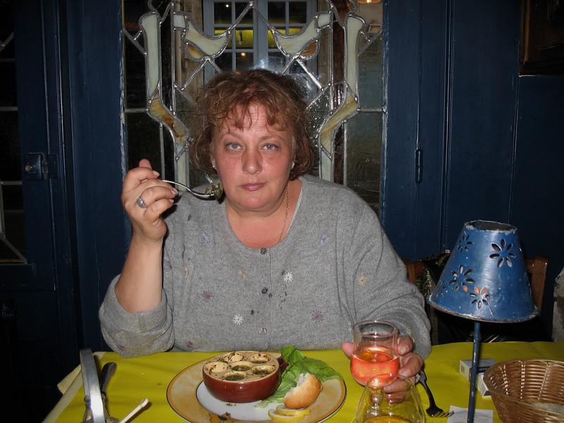 Dinner in Honfleur.