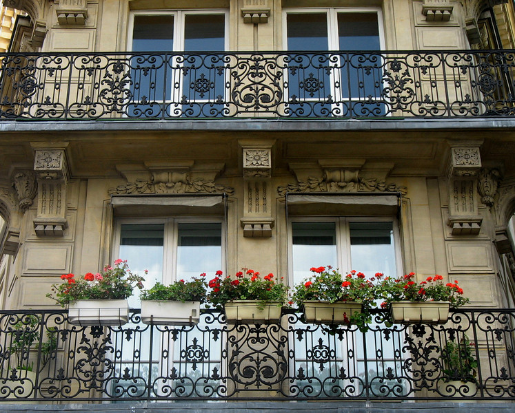 Parisienne balconies.