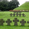 There are 21,400 German soldiers buried in this cemetery, two to a grave.