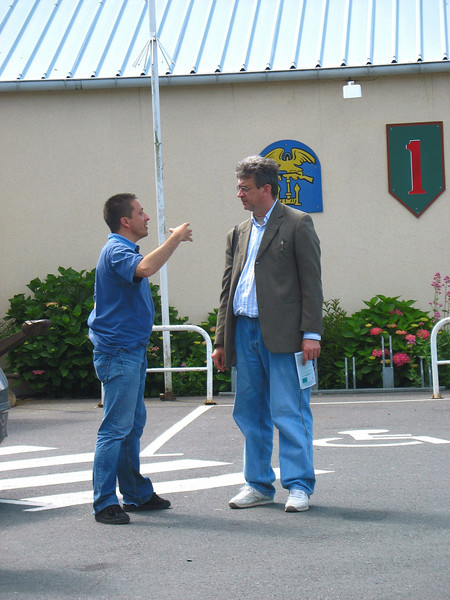 Rustem with our D-Day guide, Olivier.