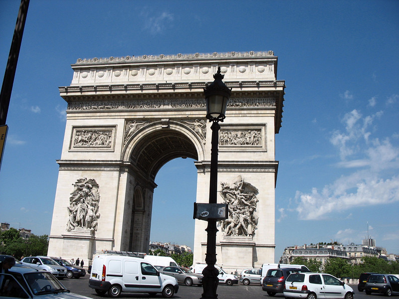 After taking care of business at the Russian Consulate, we head to the Arc de Triomphe.