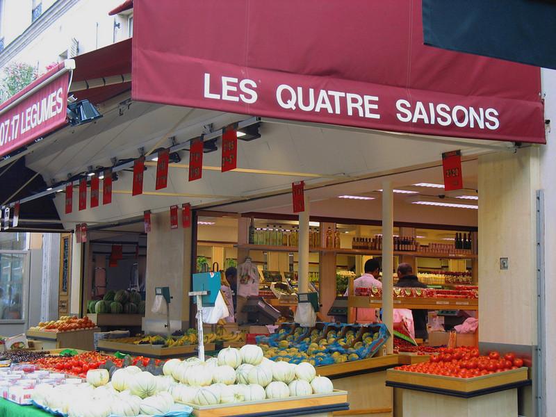 Rue Cler, a pedestrian market street.