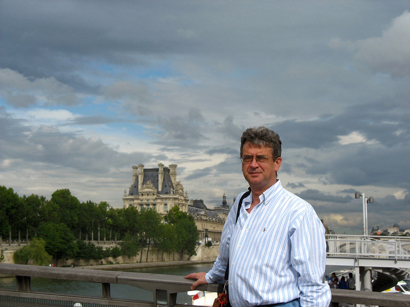 Overlooking the Seine.