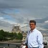 Overlooking the Seine.