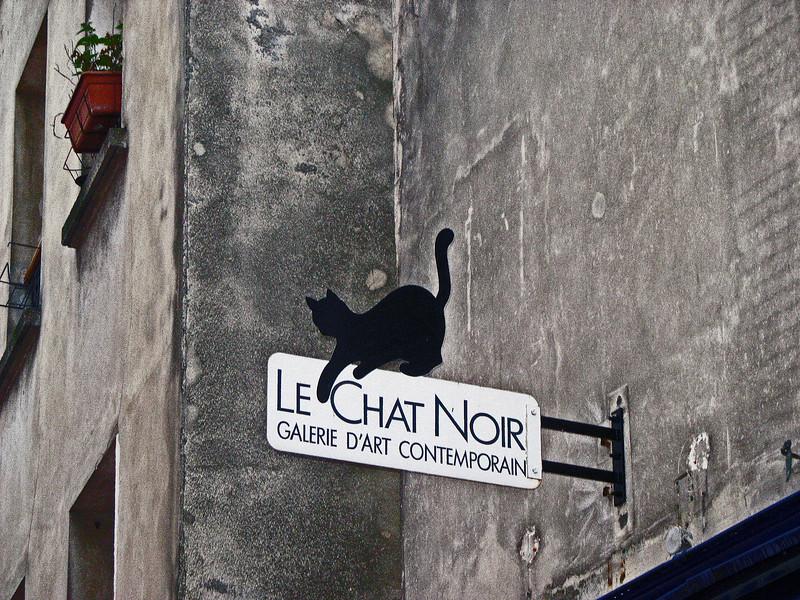 Art gallery sign. Montmarte.