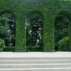Rodin Museum ivy covered arches.