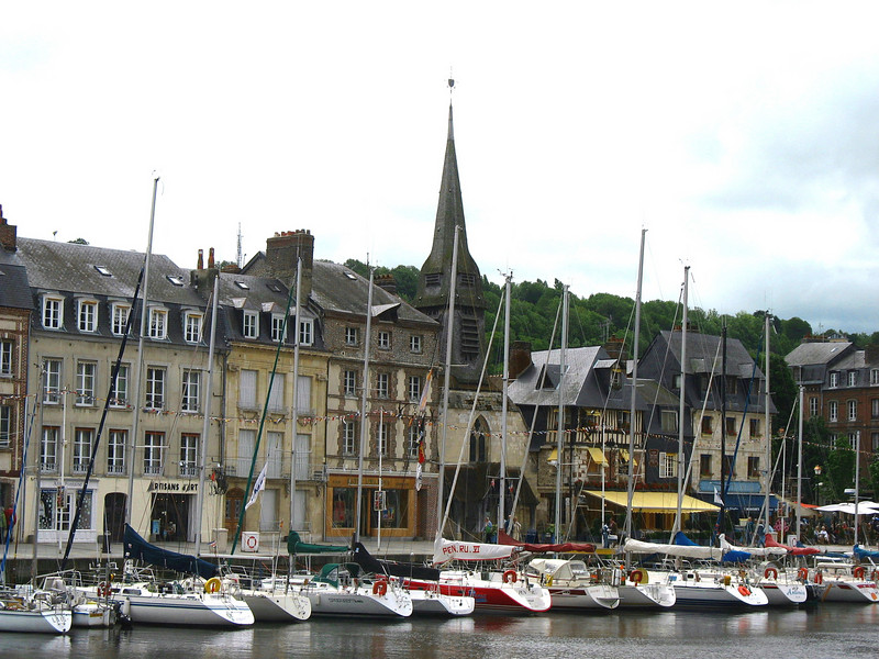 Opposite of Honfleur's Vieux Bassin (Old Harbor)