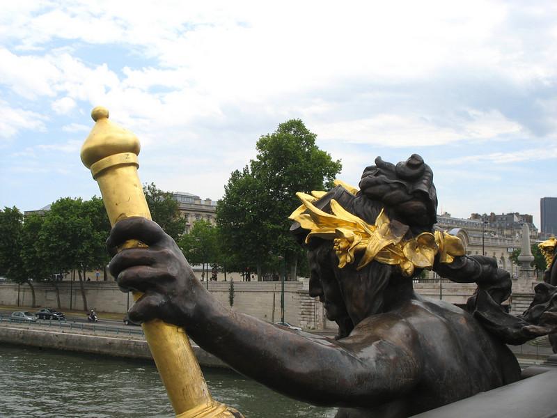 Pont Alexandre III detail.