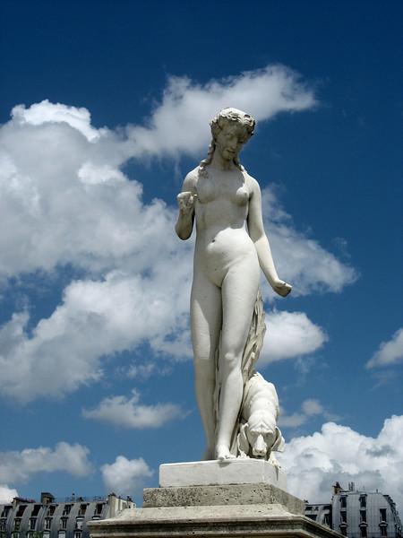 Woman & Dog, Tuileries Gardens.