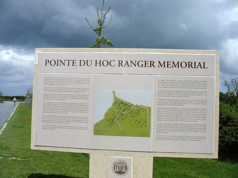 Four miles west of Omaha Beach, Pointe Du Hoc was a  strategic German stronghold. <br /> <br /> Today, it's U.S. territory.