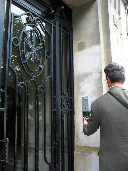 Entrance to Madeleine's apartment.