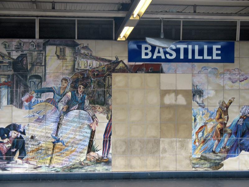 Bastille metro station.